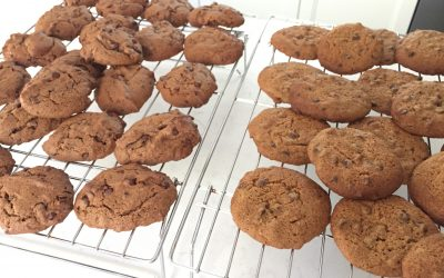 Double Chocolate Chip Gluten-Free Cookies (Gluten, Dairy, Egg and Refined-Sugar Free)