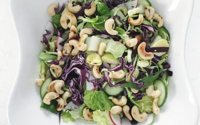 Salad with Maple Pecan Vinaigrette and Candies Pecans